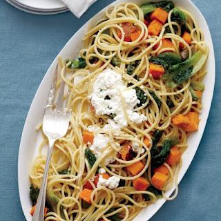 Spaghetti with Butternut Squash and Escarole.