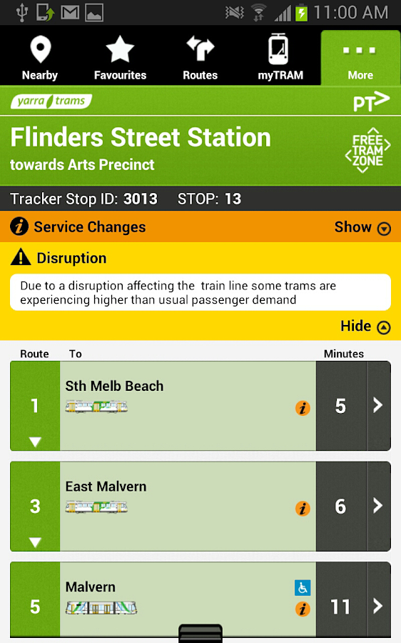 tramTRACKER- screenshot
