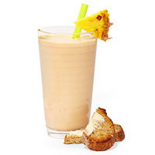 Tropical Smoothie with Toast.