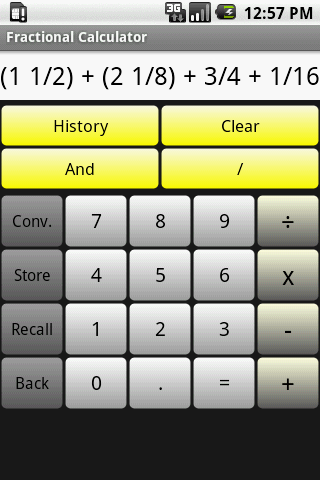 Fractional Calculator - screenshot