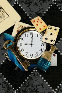Alice's Wonderland clockWidget