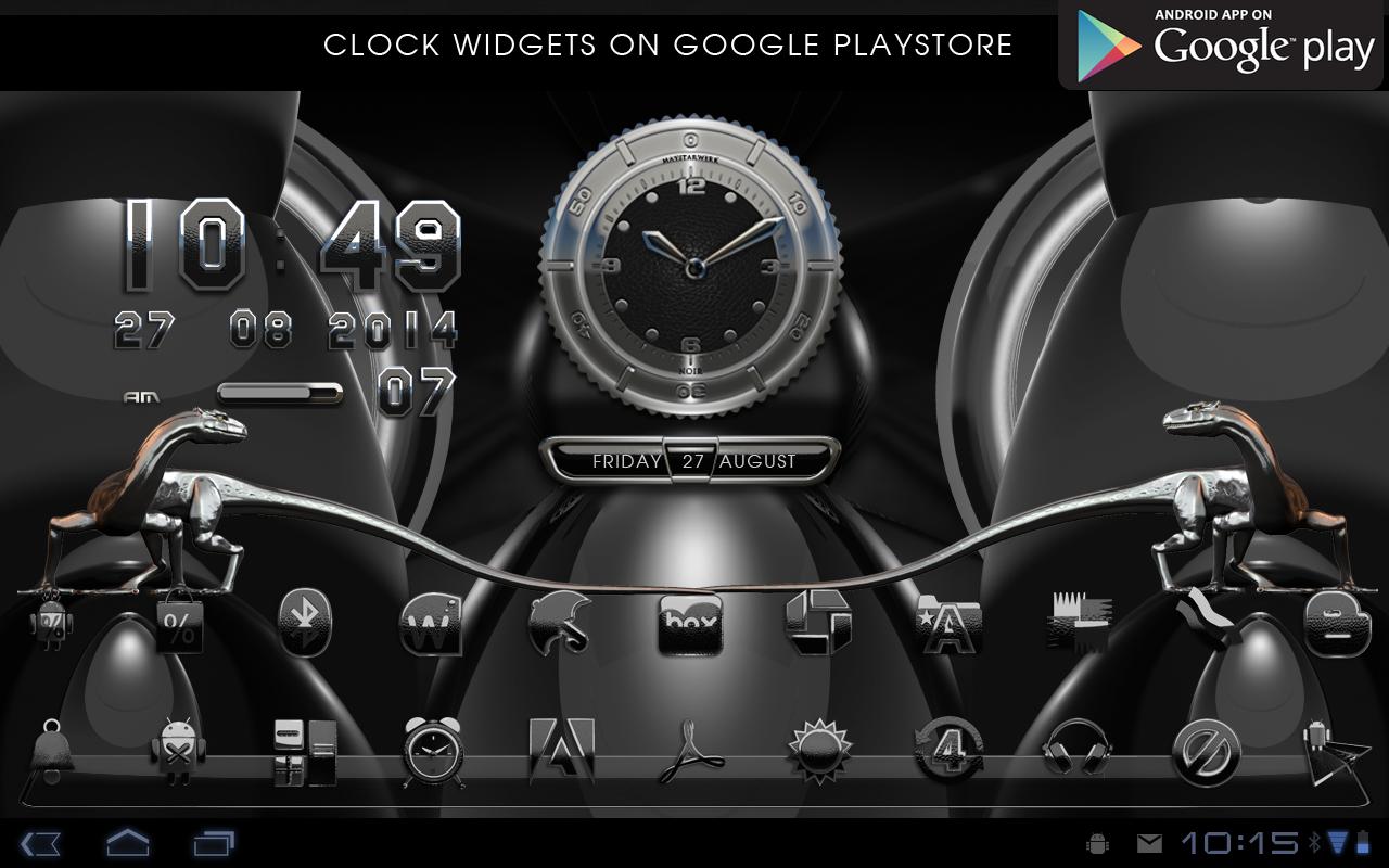 Google themes black and white - Next Launcher Theme Black Liz Screenshot