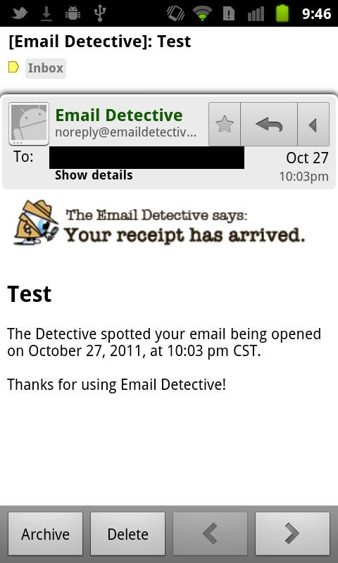Email Detective - screenshot