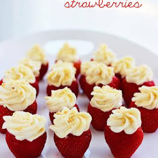 Cheesecake Stuffed Strawberries.