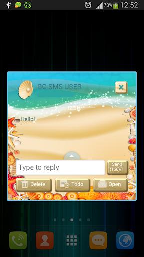 GO SMS Proのビーチ