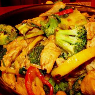 Lemon-Ginger Chicken and Broccoli.