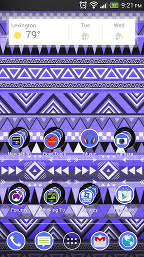 Aztec Tribal Blue Theme