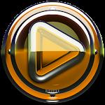 Poweramp skin Orange Glas luxe v1.33