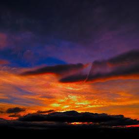 Atardecer en Chachil by Daniel Sapag - Landscapes Cloud Formations ( belleza, cielo, nubes, atardecer, puesta de sol )