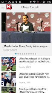 MassLive.com: UMass Football - screenshot thumbnail