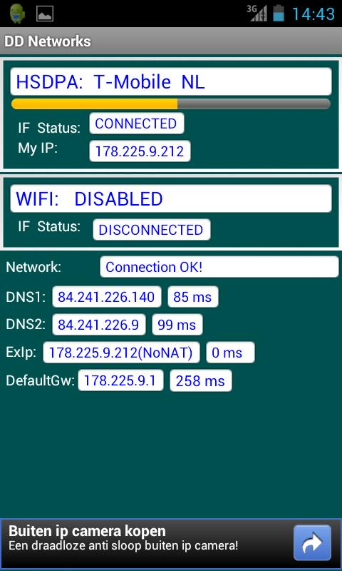DD Networks Test & Info - screenshot