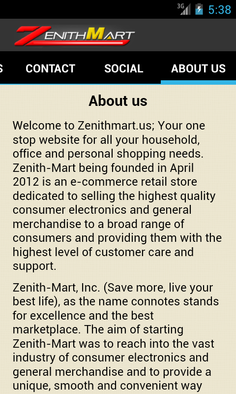 ZenithMart - screenshot