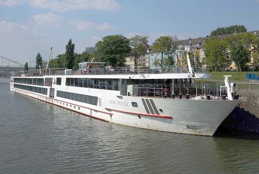 Viking-Prestige-Cologne - The river cruise ship Viking Prestige in Cologne, Germany.