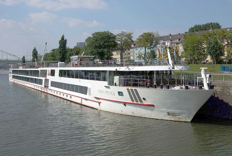 Viking Prestige sails in Cologne, Germany.