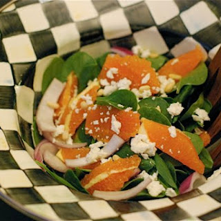 Cara Cara Goat Cheese & Spinach Salad