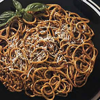 Linguine with Sun-Dried Tomato Pesto.