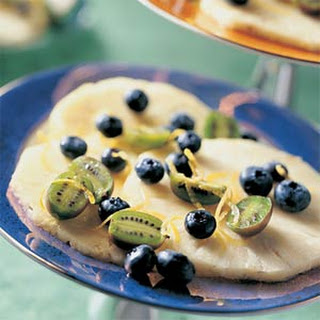 Pineapple, Blueberry, and Kiwi Fruit Dessert