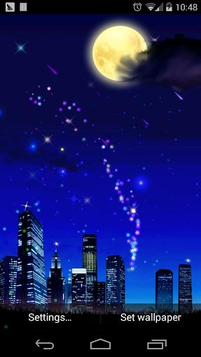 浪漫星空流星動態壁紙