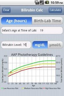 Calculador de Icteria de Bebes Gratis