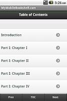 Screenshot of Frankenstein Ebook
