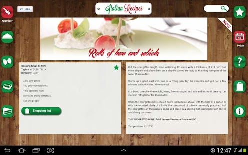 Italian Recipes Premium - screenshot thumbnail