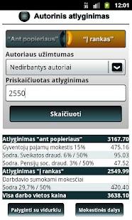 Atlyginimų skaičiuoklė- screenshot thumbnail