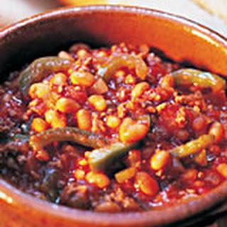 Chili con Carne met maïs en tortillachips