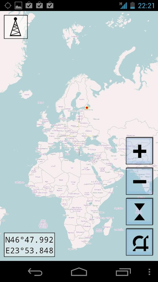 MapNav – екранна снимка