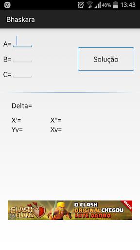 Bhaskara Calculator
