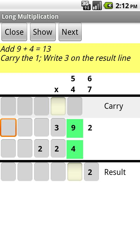 Learn Multiplication- screenshot