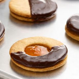 Apricot-Almond Sandwich Cookies.
