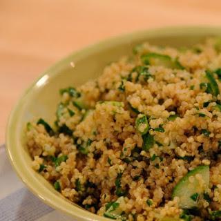 Quinoa and Cucumber Salad.