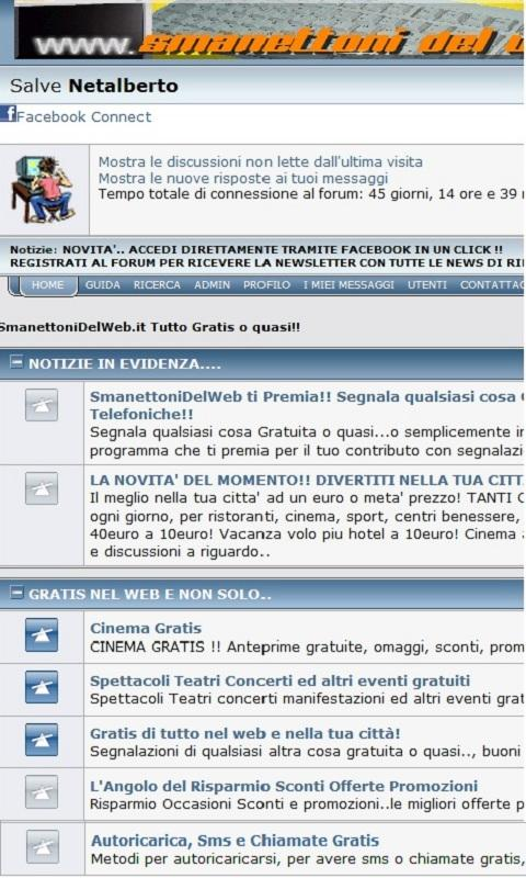 SmanettoniDelWeb Tutto Gratis - screenshot