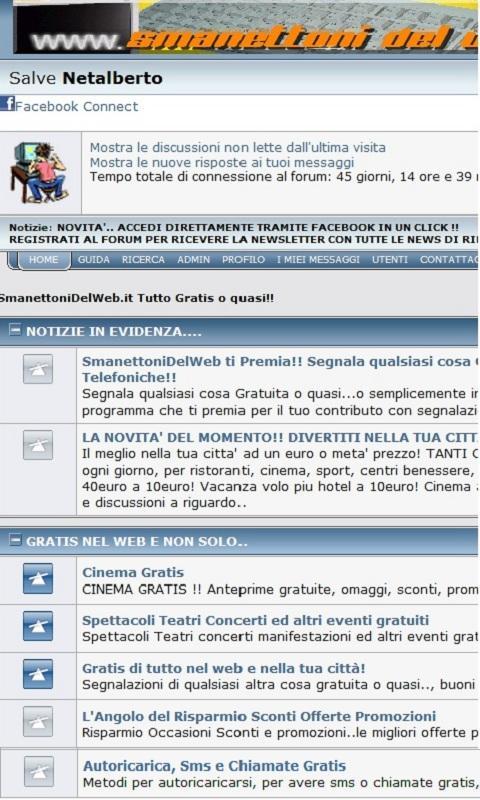 SmanettoniDelWeb Tutto Gratis - screenshot
