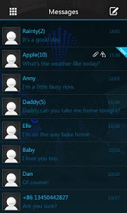 GO SMS Pro Icecream Theme- screenshot thumbnail