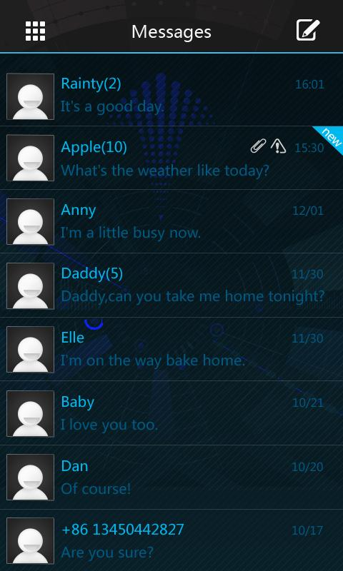 GO SMS Pro Icecream Theme - screenshot