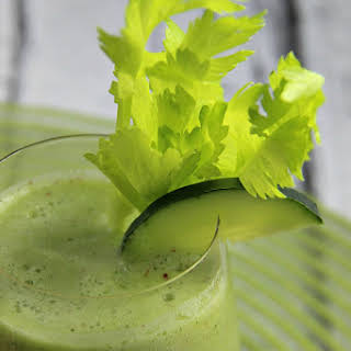 Cucumber And Ginger Smoothie.