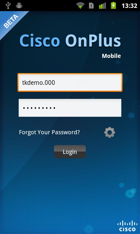Cisco OnPlus Mobile - screenshot