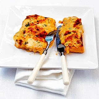 Welsh Rabbit (Rarebit) with Sage and Onions.