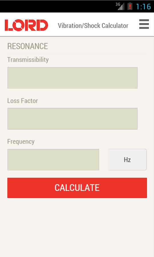 Vibration-Shock Calculator- screenshot