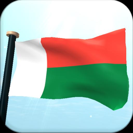 Madagascar Flag 3D Free