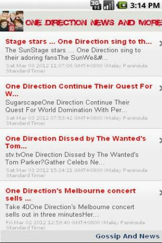 One Direction News & More - screenshot