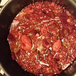 Roasted Beet, Crab and Vegetable Soup