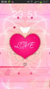 GO Locker Theme Pink Heart - screenshot thumbnail