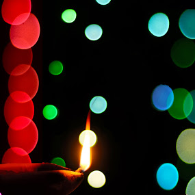 light is always brighter than the dark..so life is.. by Pritam Das - Abstract Fire & Fireworks ( candle, night photography, fireworks, bokeh )
