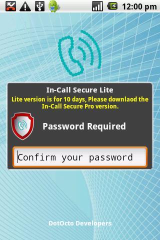 In-Call Secure Lite
