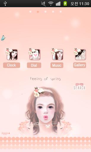 CUKI Theme Jennie Pink spring