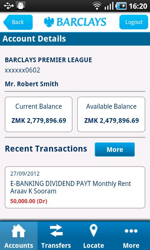 Barclays Zambia- screenshot