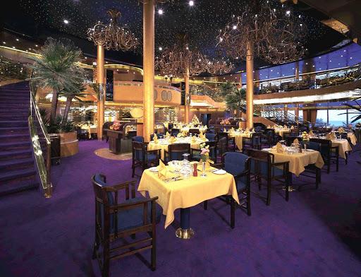 The elegant dining area aboard Holland America's Zaandam.