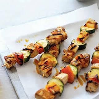Swordfish-Zucchini Kebabs.